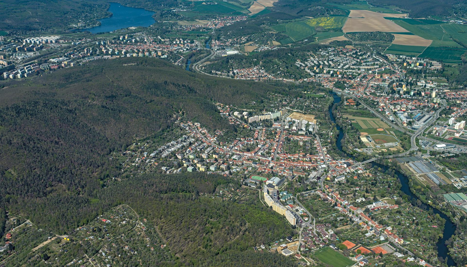 Brno Západ - Letecká velkoplošná fotografie