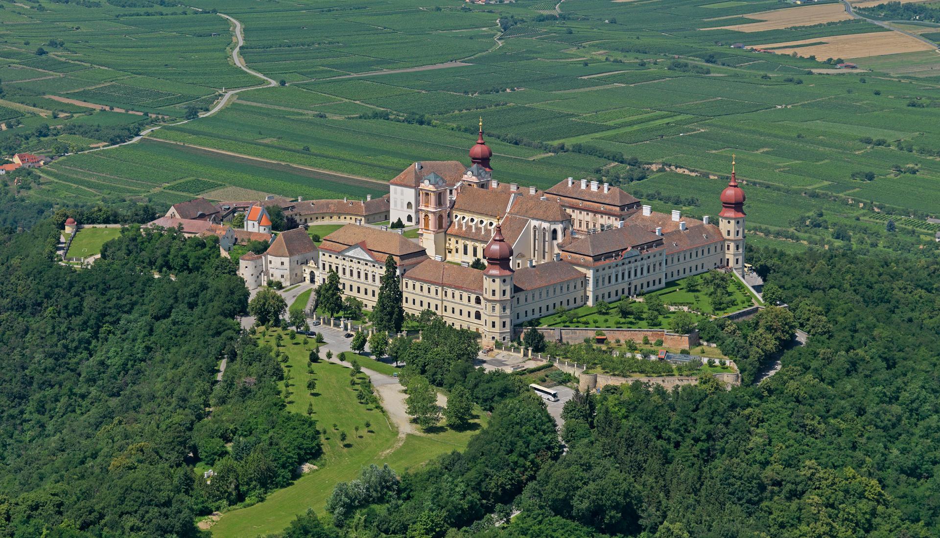 Gettweig - klášter - Letecká velkoplošná fotografie