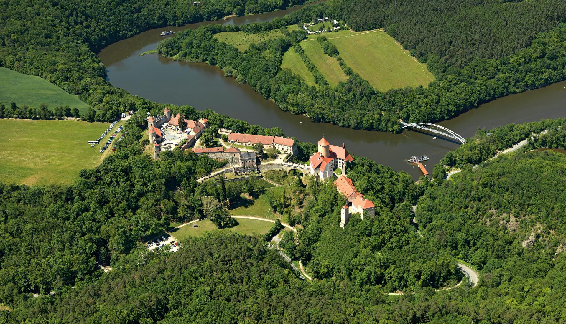 Hrad Veveří - Letecká velkoplošná fotografie