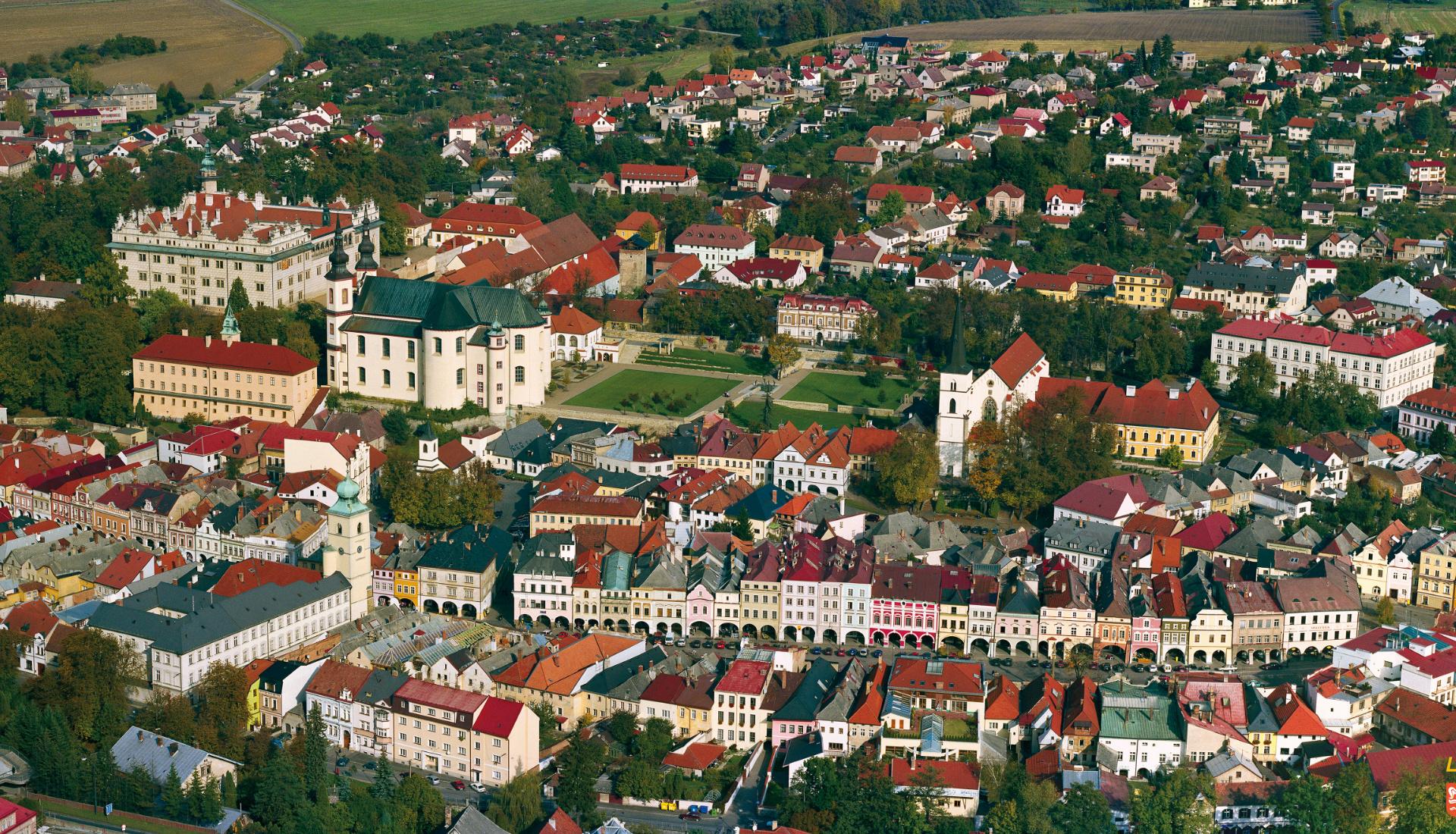Litomyšl - Letecká velkoplošná fotografie